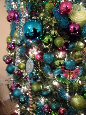 Lush Lime and blue christmas Christmas Theme Trees Pinterest
