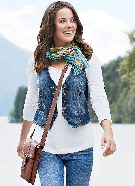 Джинсовые жилеты и безрукавки (67 фото): женские модели, с ...