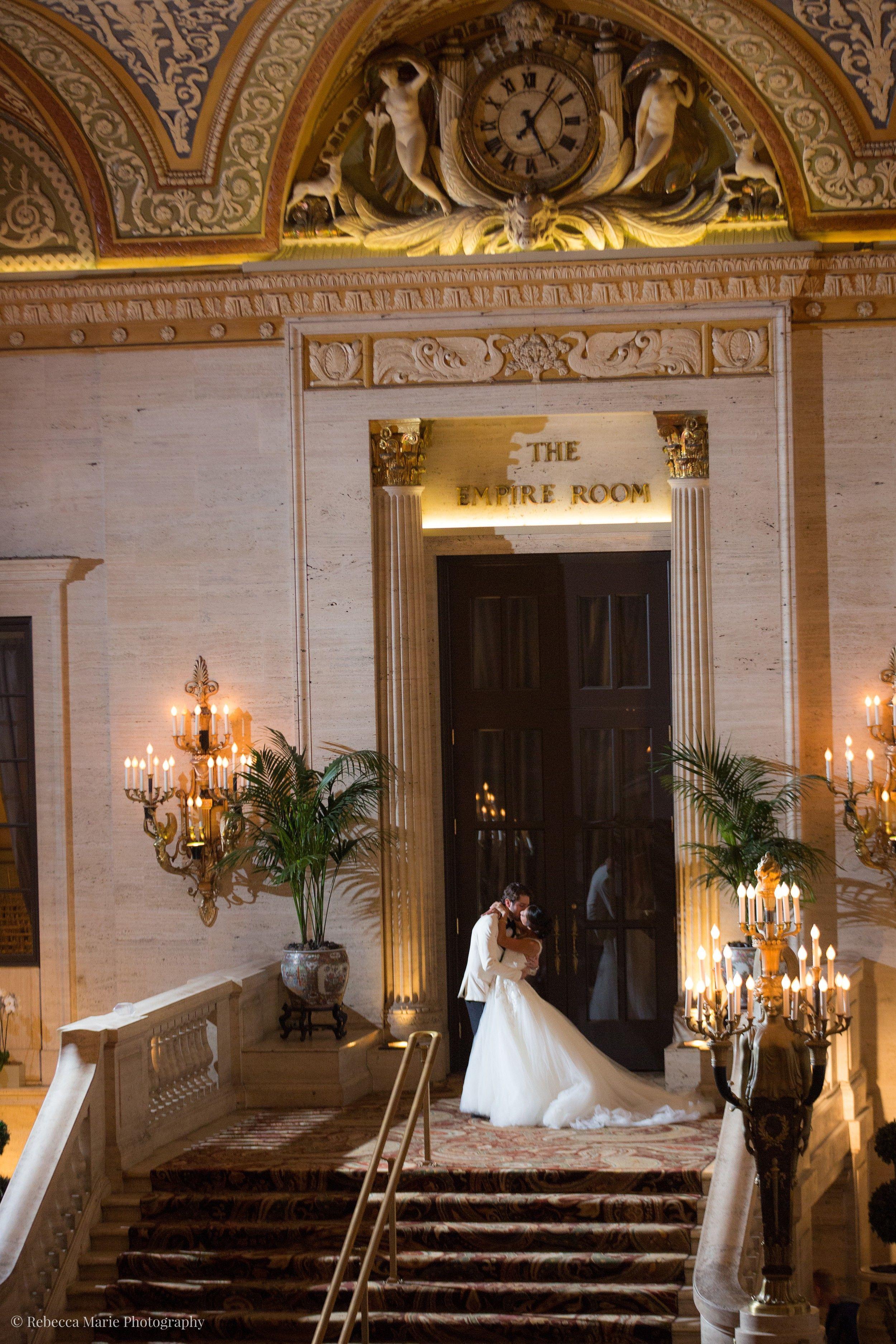 Palmer House Hilton Wedding Day Wedding, Chicago wedding