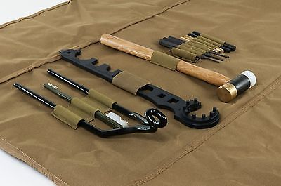 $43 NcStar AR15/M4 13pc Gunsmithing Tool Kit w/Roll-up Cleaning Mat - TAN