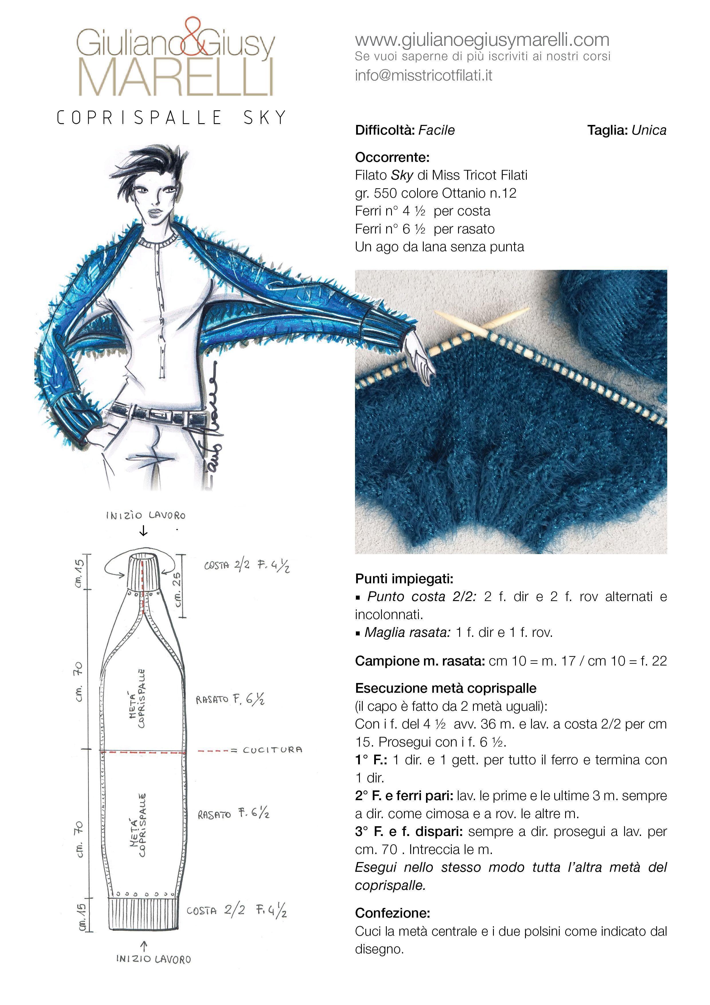 Photo of # Crochet scarf vest Giuliano & GiusyMarelli_MF_Coprispalle_Sky.jpg (2480 × 3508) #S …