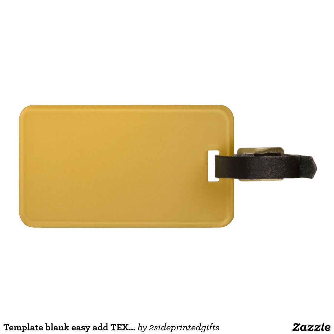 Template blank easy add TEXT PHOTO JPG IMAGE FUN Luggage Tag | Text ...