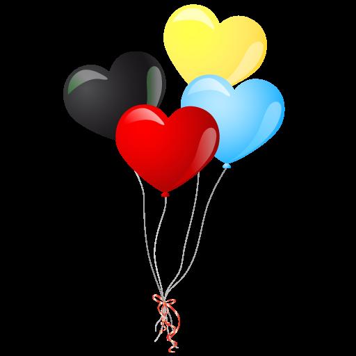 Balloons Clipart Transparent Background Google Search Balloons Telegram Stickers Heart Balloons