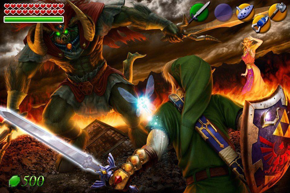 Link Vs Ganon Ocarina Of Time Zelda Art Legend Of Zelda Ocarina Of Time