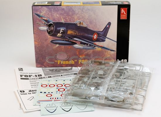 Grumman F8F-1B Bearcat | Modellbausatz im Maßstab 1:48 von Hobbycraft (http://www.cyram-entertainment.de/shop/products/Modellbau/Militaer/Luftfahrzeuge/2-Weltkrieg/Grumman-French-F8F-1B-Bearcat-Conversions-Kit.html)