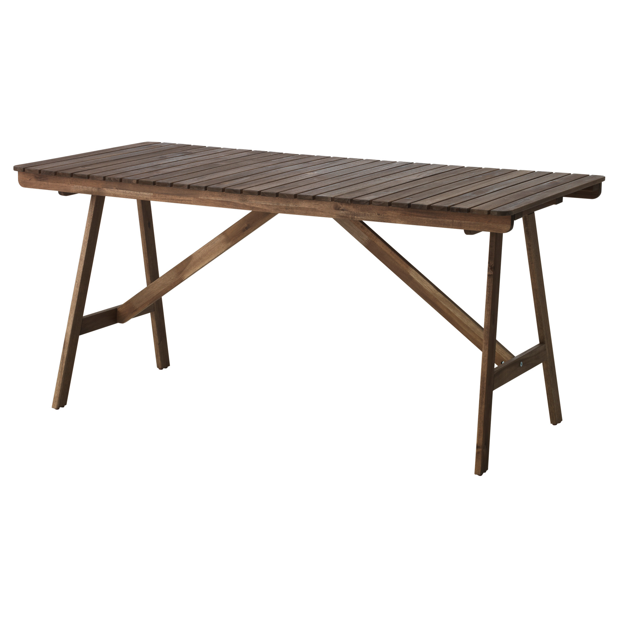 Folding Wooden Table Ikea Falholmen Table Outdoor Gray Brown Stained Home Ikea Outdoor