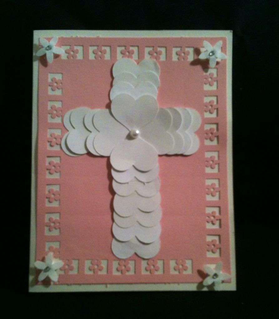 PK 2 BABY GIRL CHRISTENING EMBELLISHMENT TOPPERS FOR CARDS /& CRAFT