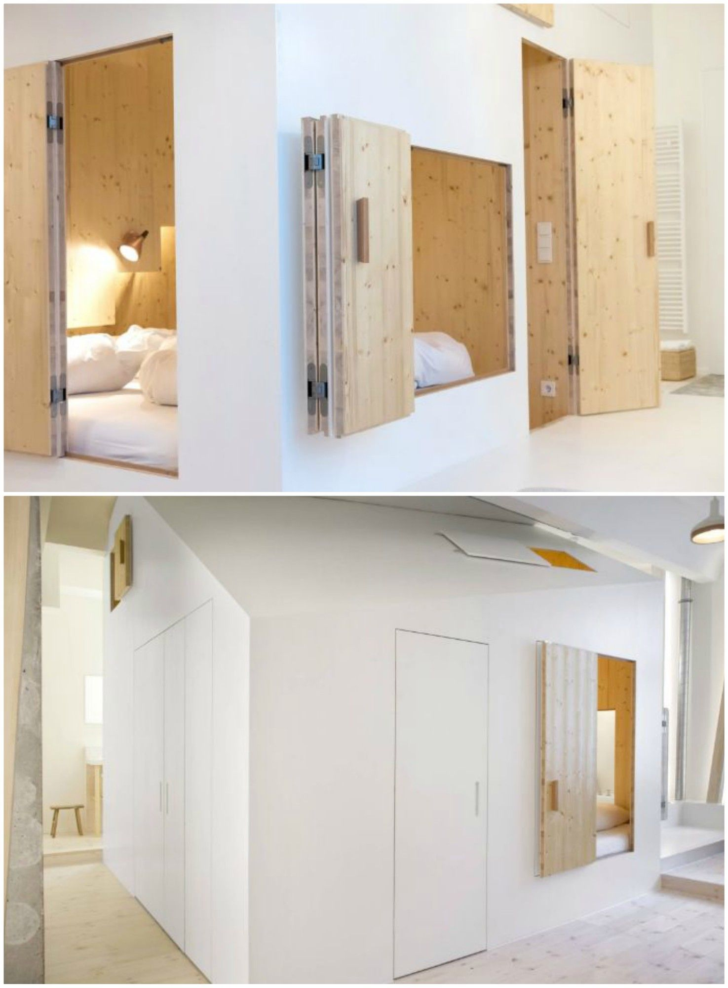 Hotel room boasts  playful plywood house interior garden decorating small spaces also addict rh pinterest