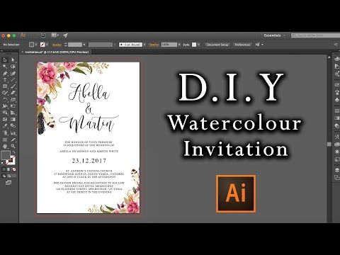 133) DIY Watercolour Flower Invitation How to make professional - how to make invitations on word