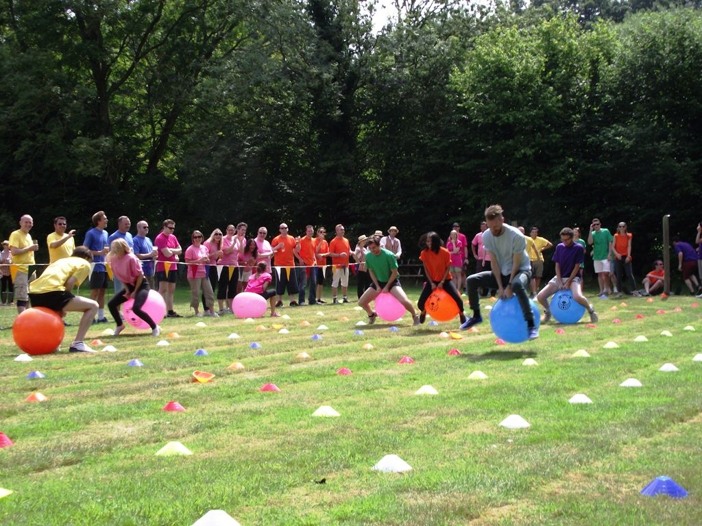 Space Hopper Racing Corporate Sports Day Space Theme