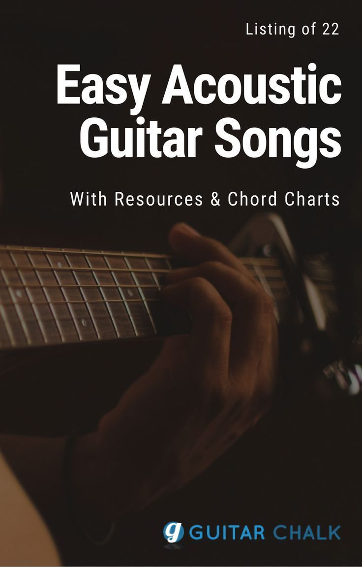 Listing Of 22 Easy Guitar Songs For Beginners With Chord Charts And