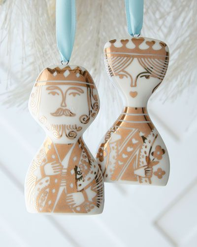 H84NF Jonathan Adler King & Queen Ornament Set