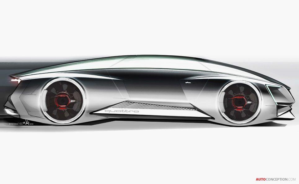 Audi Ender S Game Car Futuristicheskie Avtomobili Tricikl