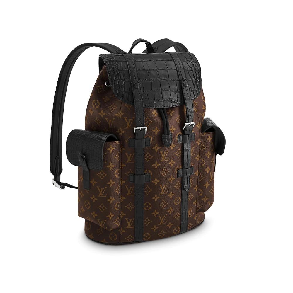 Christopher Backpack PM Crocodilien Mat in Black - Travel N93489 | LOUIS VUITTON ® | louis vuitton montsouris