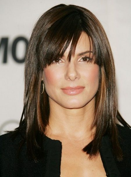 Awe Inspiring Sandra Bullock Hair With Bangs And Medium Lengths On Pinterest Short Hairstyles Gunalazisus