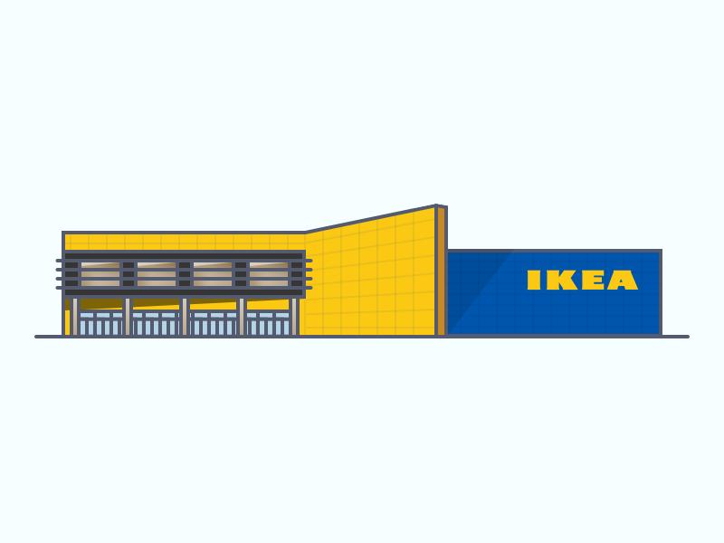 Ikea Building Illustration Building Illustration Ikea Logo Ikea