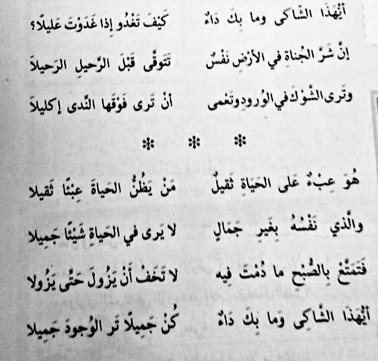 إيليا أبو ماضي Magic Words Daily Life Quotes Poem Quotes