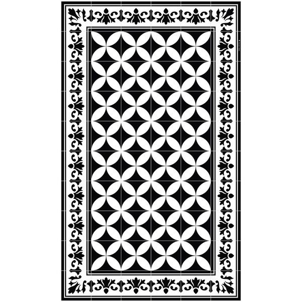 Beija Flor Sofi Vinyl Floor Mat - Black & White - 70x180cm (58 KWD ...