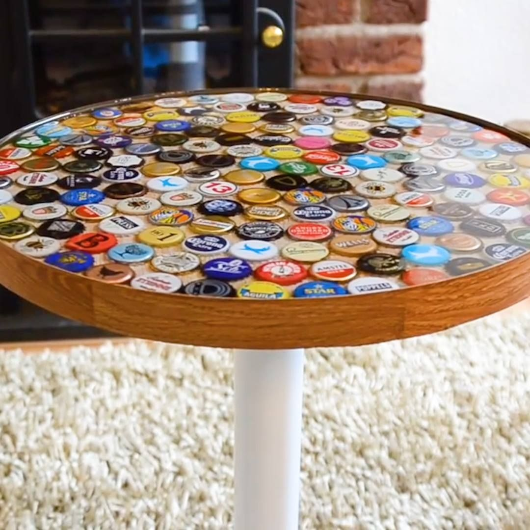 Bottle cap tables are awesome