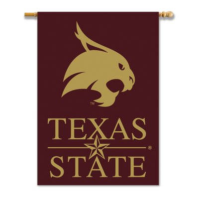 Team Pro Mark Ncaa 2 Sided Polyester 40 X 28 In House Flag Wayfair In 2020 Texas State Texas State Bobcats House Flags