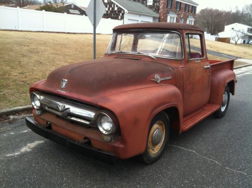 1956 ford f100 pickup big back window truck original v8 fordomatic