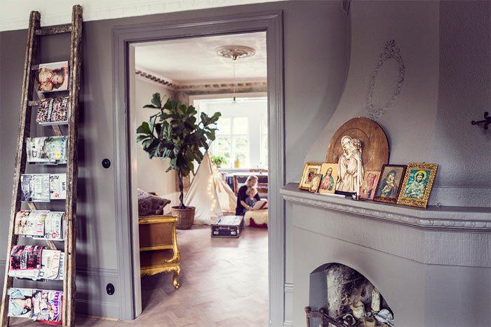 estilo boho chic en la casa de una modelo sueca a boho chic style home