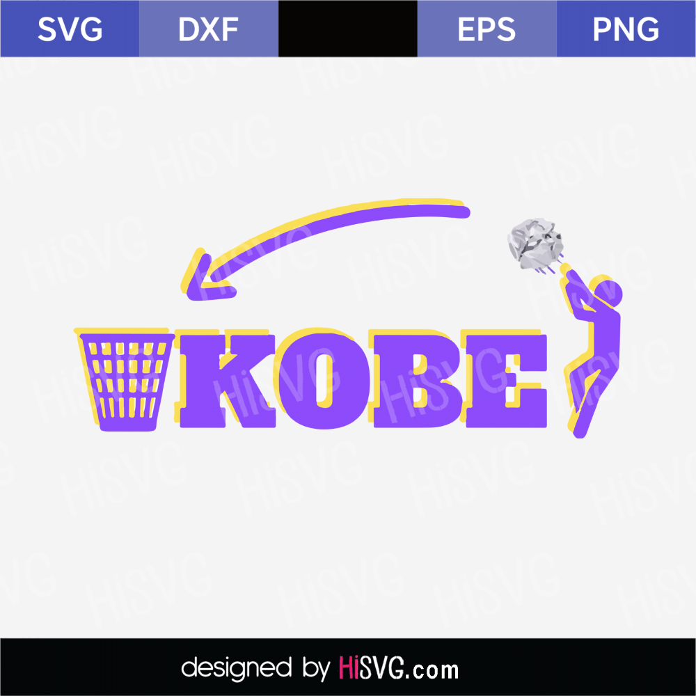 Signature Kobe Bryant SVG png jpg download autograph Los