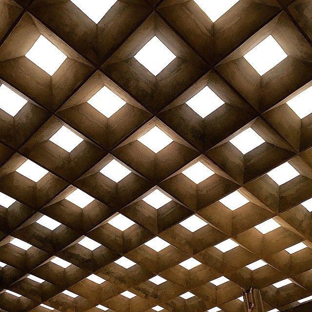 Waffle slab | Interior lighting ceiling, Skylight design ...