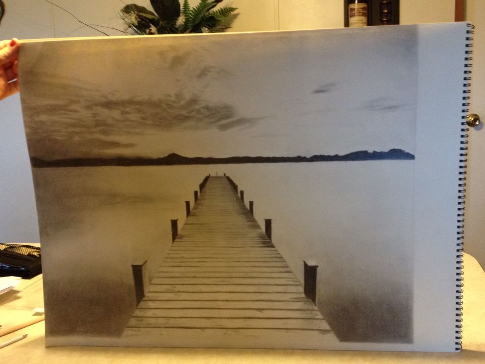 Lake dock perspective drawing my style pinterest lake dock lake dock perspective drawing freerunsca Gallery