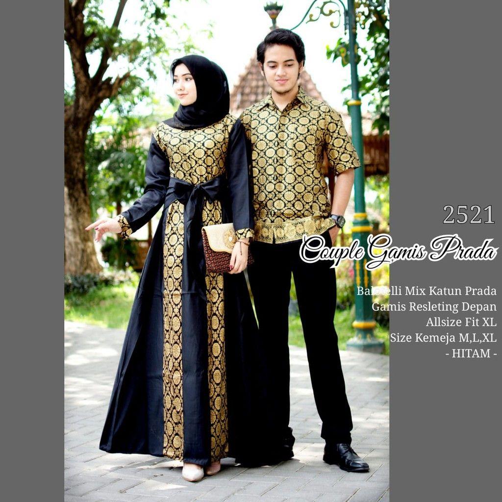 Batik Couple Gamis Batik Prodo 9 Hitam  Model pakaian muslim