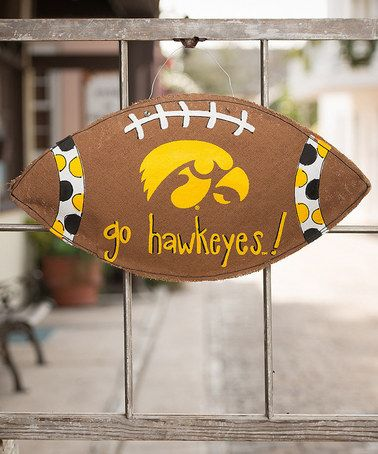 Take a look at this Iowa Hawkeyes Football Wall Décor on zulily ...