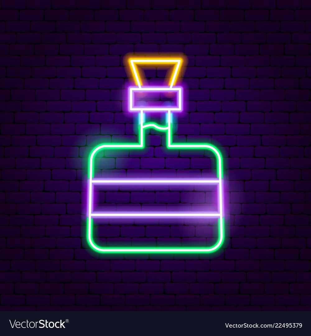 Tequila bottle neon sign vector image on VectorStock