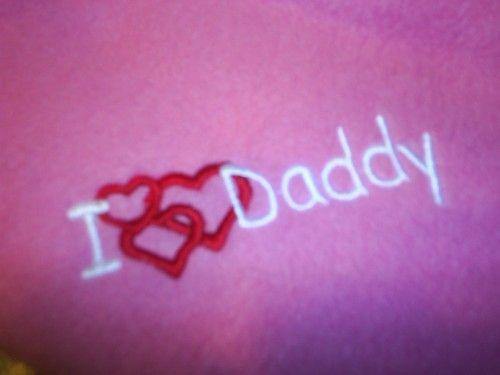 I heart love daddy. captiveembroidery on artfire.com