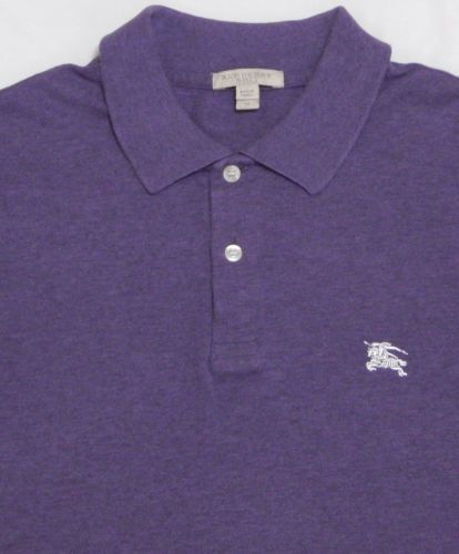 Mens Purple Nova Brit S Medium Rugby Shirt Burberry London Mesh tQdshr
