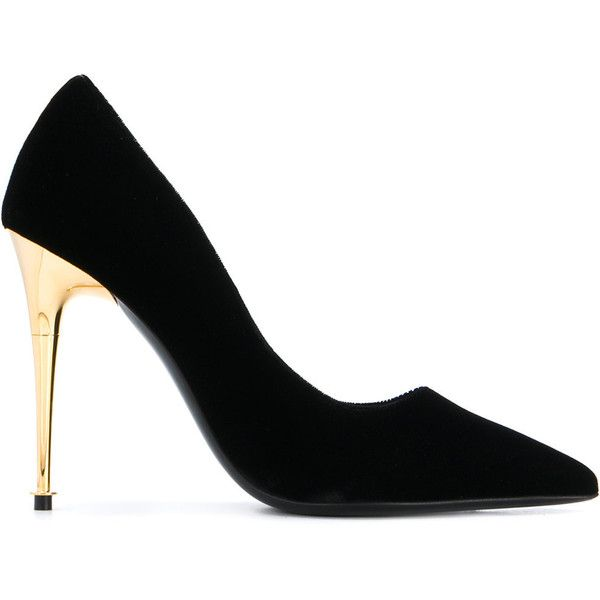 Tom Ford gold heel stiletto pumps ($702