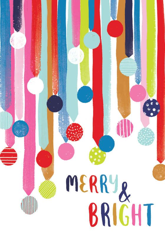 Colorful Merry And Bright Christmas Card Greetingcards Printable Diy Christmas In 2020