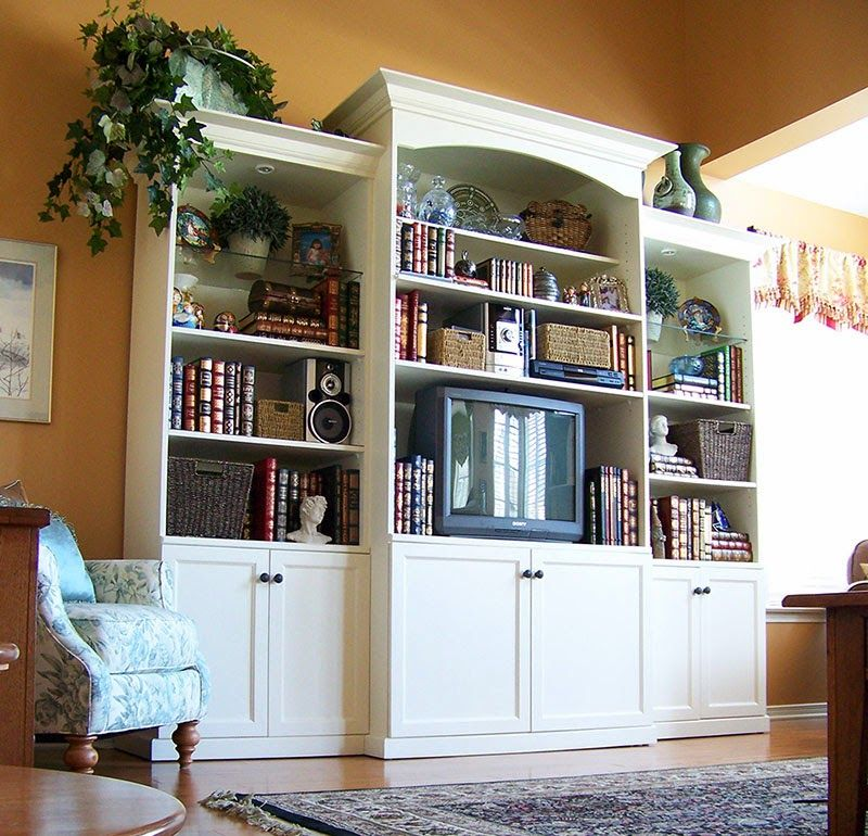 Traditional White Wall Unit   White walls, Home decor on Traditional Kitchen Wall Decor  id=58999