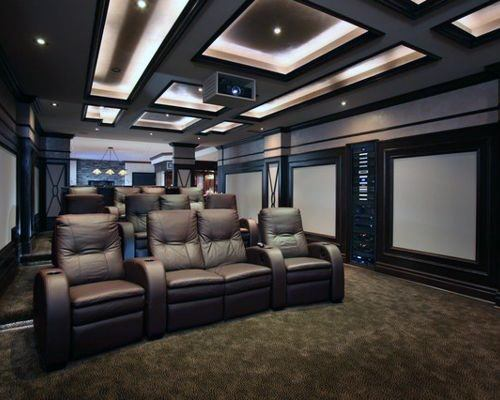 Top 40 Best Home Theater Lighting Ideas Illuminated Ceilings And Walls In 2020 Home Theater Lighting Home Theater Room Design Home Cinema Room