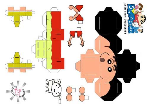 Image Detail For Anime Papercraft Toy  Crayon Shin Chan