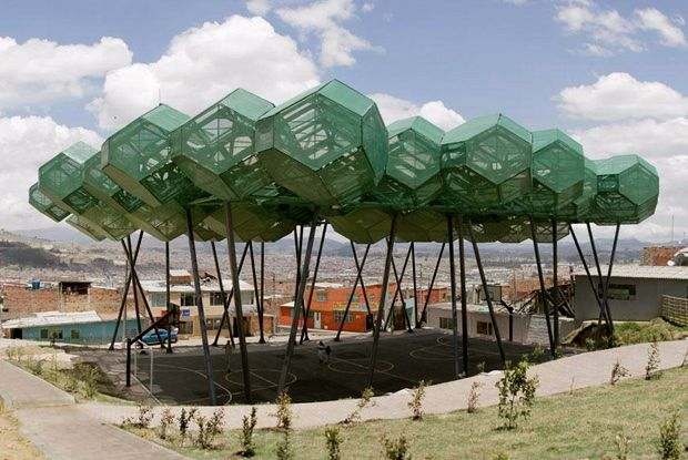 cubierta cazucá canopy in bogotamazzanti arquitectos, named as