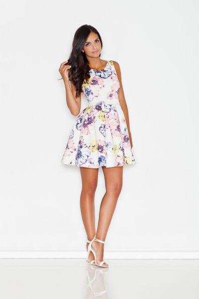 Sukienka Kontrafalda W Kwiaty M386 Dresses Summer Dresses Summer Dresses For Women