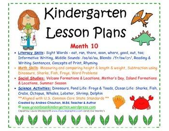 Kindergarten Lesson Plans  Month   Common Core Aligned  March