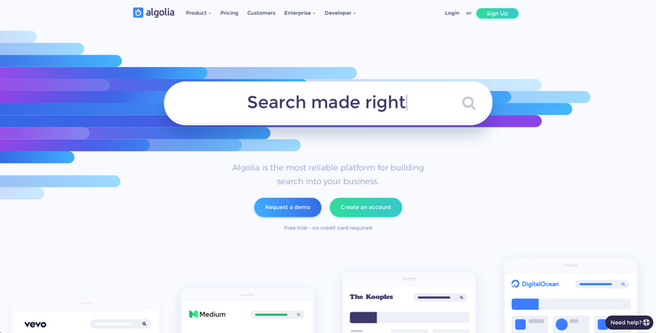 The Search Bar For Algolia S Website Web Design Trends Web Design Web Design Quotes