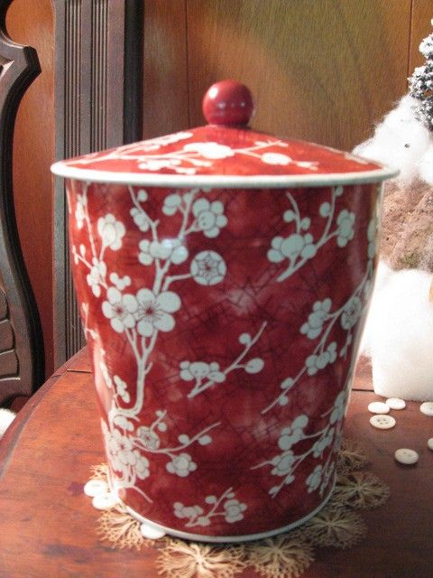 Vintage Cherry Blossoms ENGLISH BISCUIT Tin