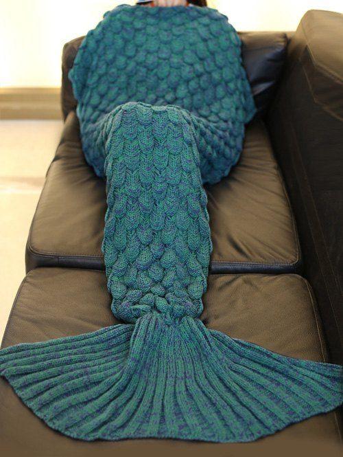Crochet Fish Scale Sleeping Bag Mermaid Design Blanket   Cola de ...