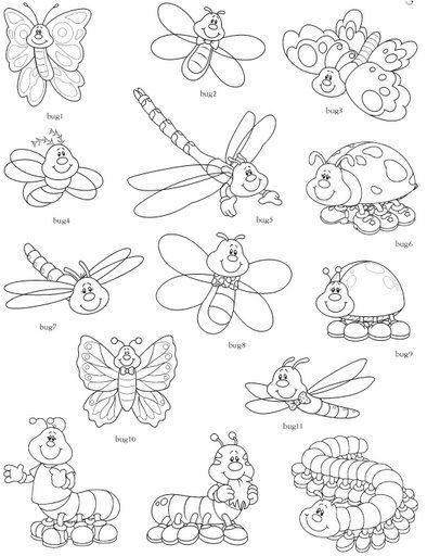4shared View All Images At Riscos Infantis Folder Insect Coloring Pages Paper Flower Patterns Butterfly Coloring Page
