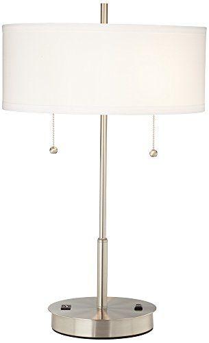 Nikola Modern Metal Table Lamp with USB Port Universal Lighting and Decor http://www.amazon.com/dp/B00V83YF5Y/ref=cm_sw_r_pi_dp_25NWvb15TMYQF