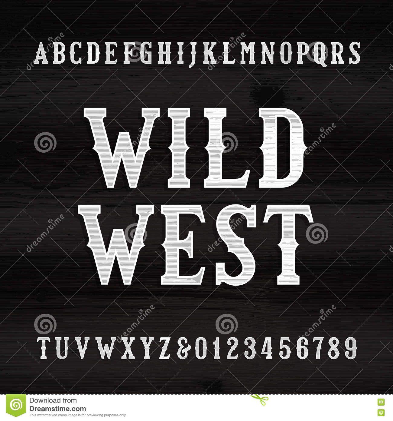 Wild West Font Vintage Alphabet Wood Texture Letters Royalty Free Stock Photos Textured Lettering Font Design Alphabet Western Font