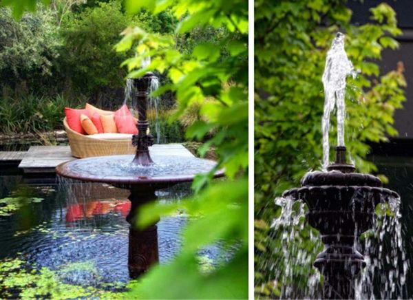 Gestaltung Gartenteich springbrunnen gartenteich gestaltung ideen fountains