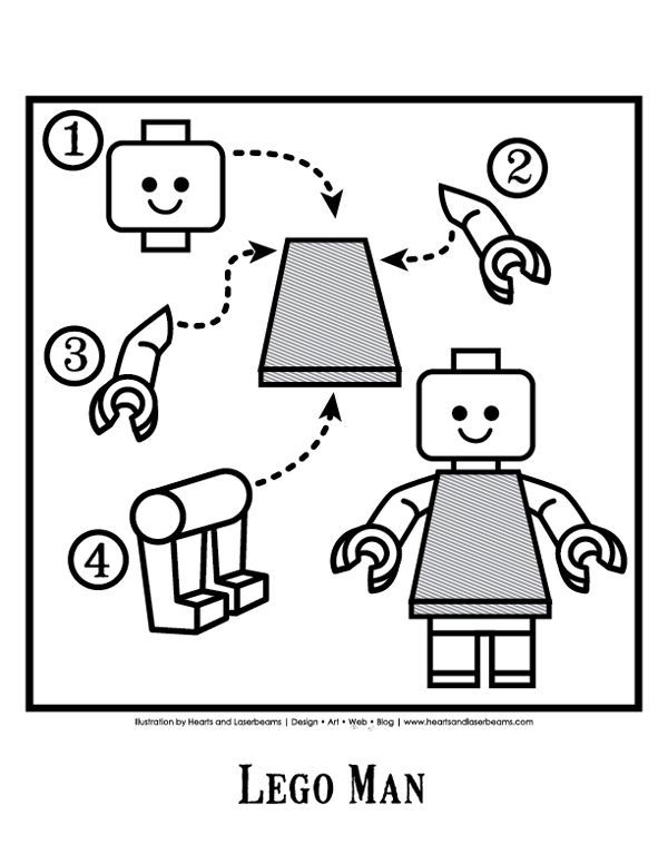 Lego Birthday Party -Lego Man Diagram {free} downloads from Hearts ...